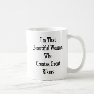 I'm That Beautiful Woman Who Creates Great Bikers Coffee Mug