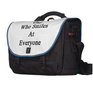 I'm That Guy Who Smiles At Everyone Laptop Shoulder Bag