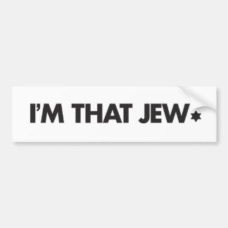 I'm That Jew Bumper Sticker