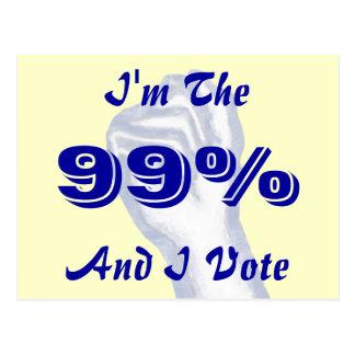 I'm The 99% Postcard