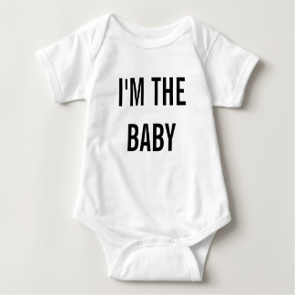 I'm the Baby Custom Jersey Baby Bodysuit