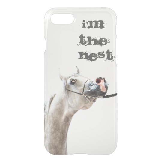 I'm the best. horse collection. arabian white iPhone 8/7 case