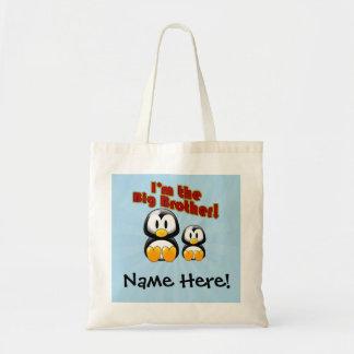 I'm the Big Brother, 2 Penguins Tote Bag