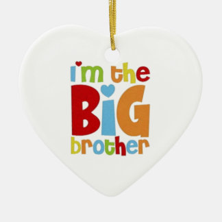 IM THE BIG BROTHER CERAMIC HEART ORNAMENT