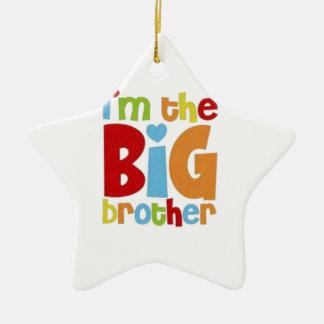 IM THE BIG BROTHER CERAMIC STAR ORNAMENT