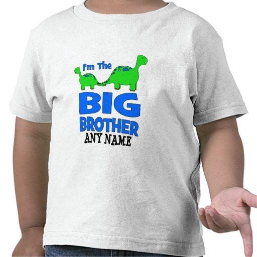 I'm the BIG Brother! Custom Dinosaur Design T Shirt