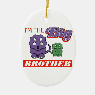 I'm the Big Brother designs Ceramic Oval Ornament