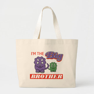 I'm the Big Brother designs Large Tote Bag
