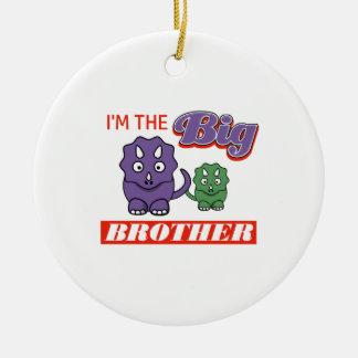 I'm the Big Brother designs Round Ceramic Ornament