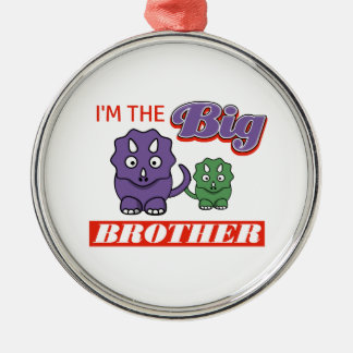 I'm the Big Brother designs Silver-Colored Round Ornament
