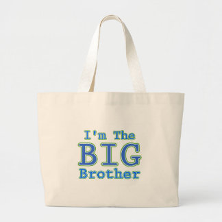 I'm the Big Brother Large Tote Bag