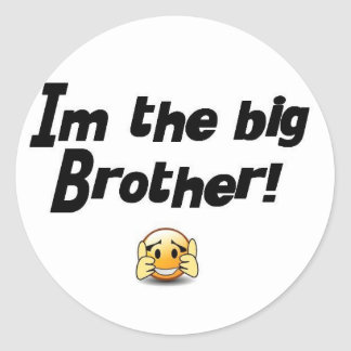 Im the big brother round stickers