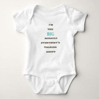 I'm the BIG miracle... baby boy t-shirt