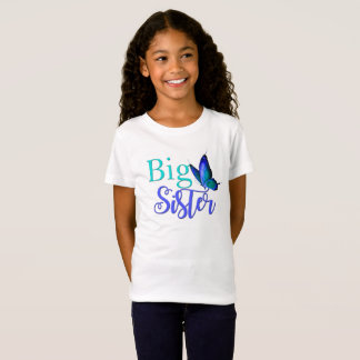 I'm The Big Sister Shirt with Blue Green Butterfly
