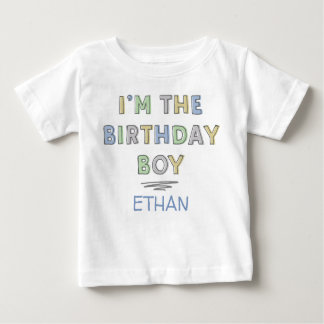 I'm the Birthday Boy - Personalized Baby T-Shirt