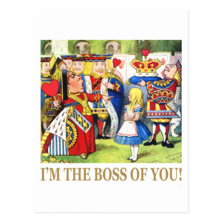 I'm The Boss of You! Postcard