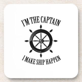 I'm the Captain I Make Ship Happen Boating Sailing Coaster