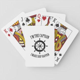 I'm the Captain I Make Ship Happen Boating Sailing Playing Cards
