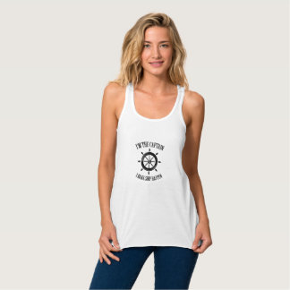 I'm the Captain I Make Ship Happen Boating Sailing Tank Top