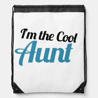 I'm the COOL Aunt Drawstring Bag