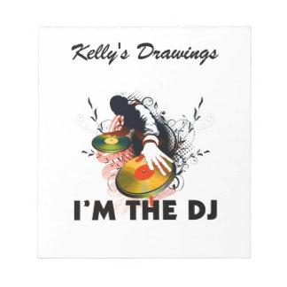 I'm The DJ Rockin The Turntables Scratch Pad