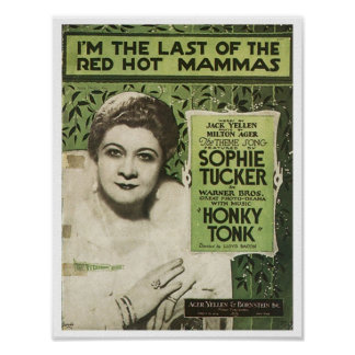 I'm The Last Of The Red Hot Mamas Songbook Cover Poster