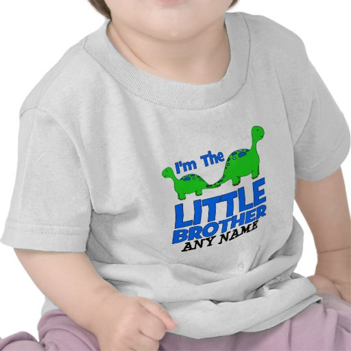 I'm The LITTLE BROTHER!  Custom Dinosaur Gift Shirts