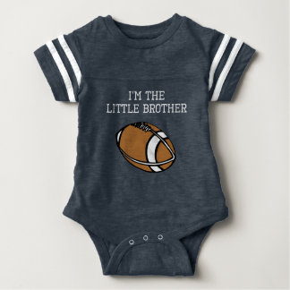 I'm The Little Brother Football Baby Bodysuit