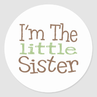 I'm The Little Sister (Green) Round Stickers