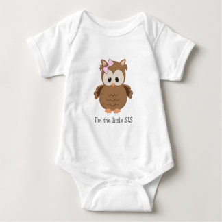 I'm the little sister / SIS Woodland Owl Baby Bodysuit