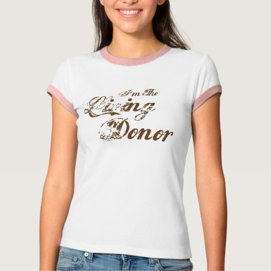 I'm The Living Donor - vintage brown T-Shirt