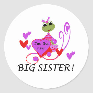I'm The New Big Sister Classic Round Sticker