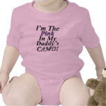 Im The Pink In My Daddys Camo Baby Shirt Rompers
