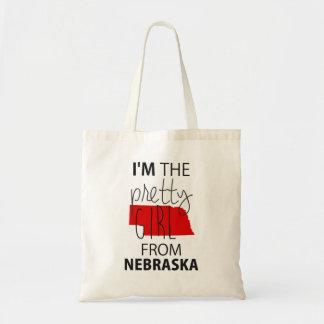 I'm The Pretty Girl From Nebraska Canvas Bag