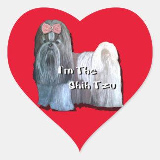 I'm the Shih Tzu - Heart Stickers