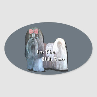 I'm the Shih Tzu - Oval Stickers  - Sheet of 4