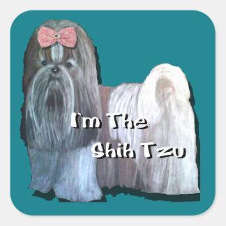 I'm the Shih Tzu - Square Stickers