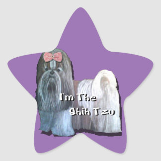 I'm the Shih Tzu - Star Stickers  - Sheet of 20