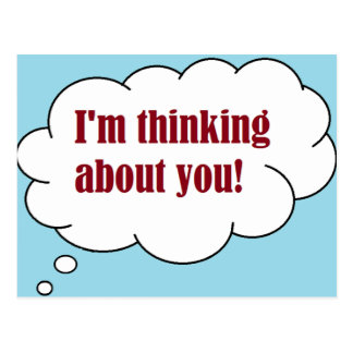 I'm Thinking About You Postcard