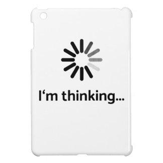 I'm thinking (loading | nerd) white background iPad mini cover