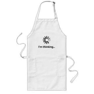 I'm thinking (loading | nerd) white background long apron