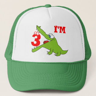 I'm Three Funny Crocodile Kids Hat