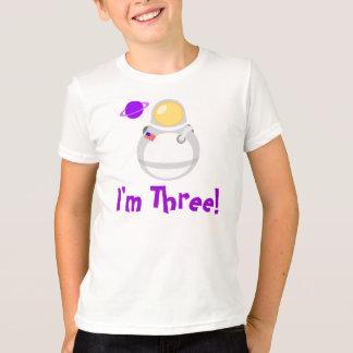 I'm Three Toddler Astronaut Tee Shirt Gift