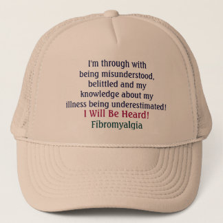 I'm through withbeing misunderstood,belittled a... trucker hat