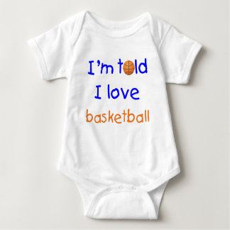 I'm Told I Love Basketball T-Shirt (Blue)