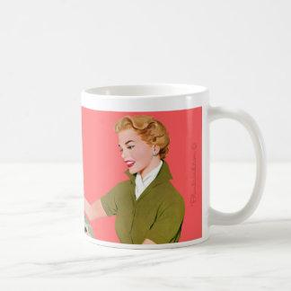 I'm too pretty for a cubicle. classic white coffee mug