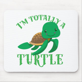 im totally a turtle mouse pad