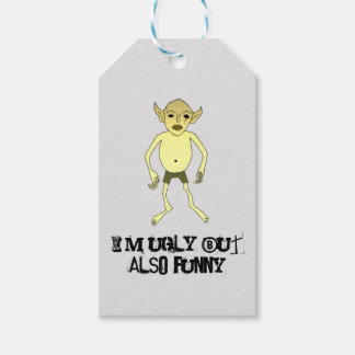 I'm ugly but also funny gift tags