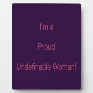 I'm Undefinable Plaque