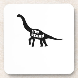 i'm vegan  Herbivore Dinosaur Vegetarian Gift Coaster